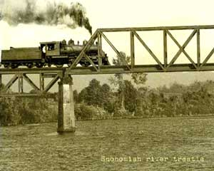 train on trestle