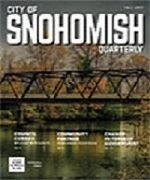 Magazine cover - bridge over Snohomish river