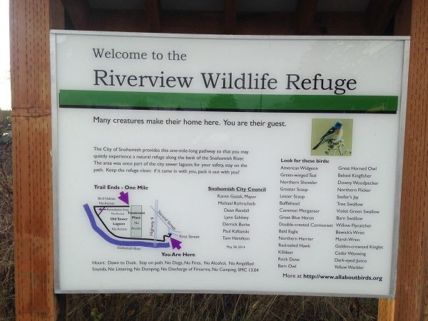 Riverview welcome sign
