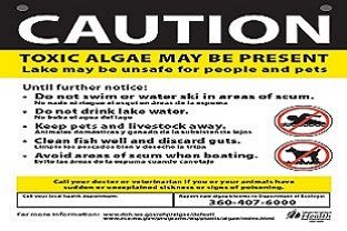 Blackmans Lake Toxic Algae Caution Sign