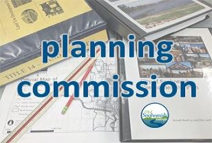 Planning Commission Tools; books, maps, red pencil