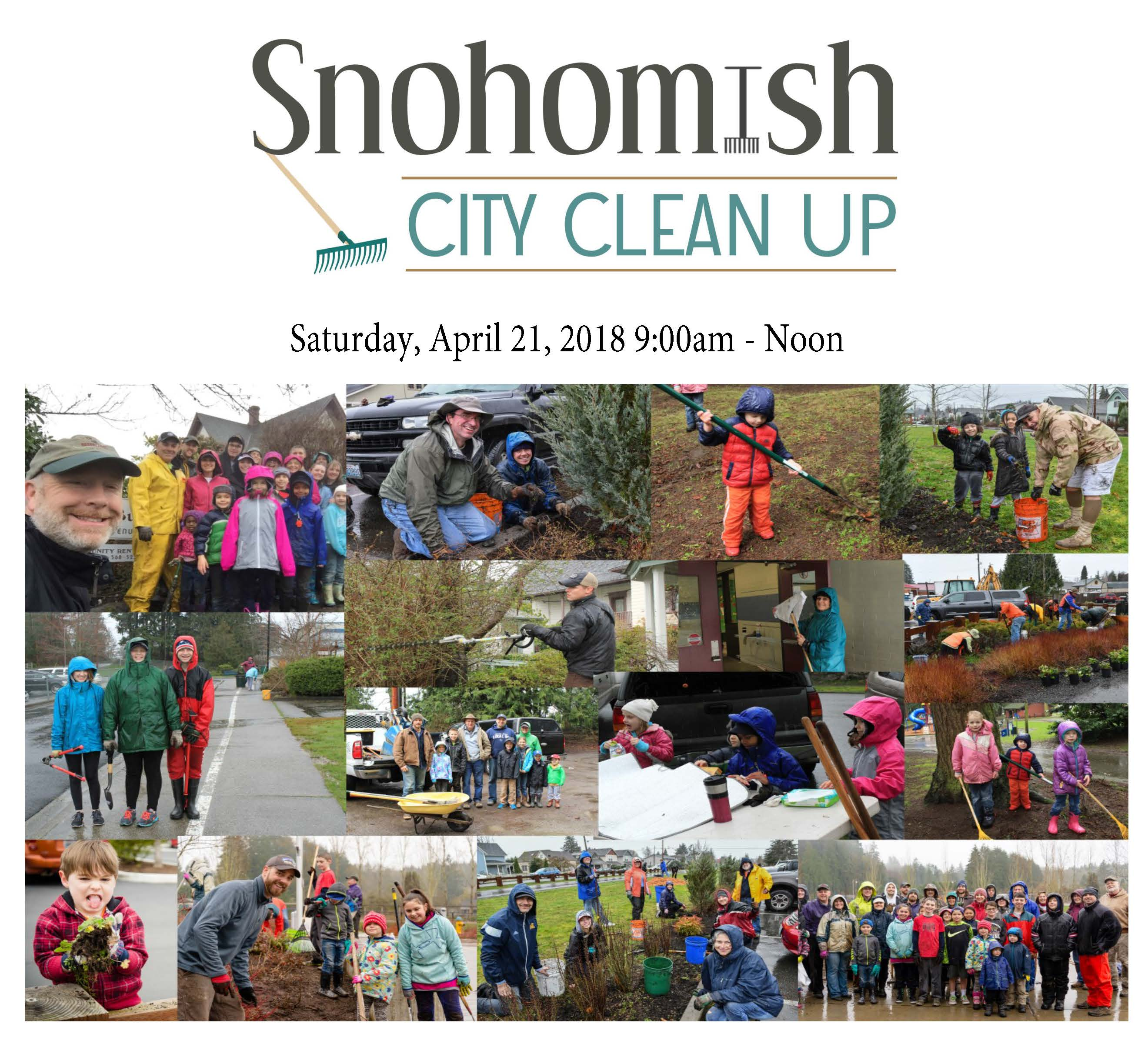 City Trails, Parks Clean Up event flyer