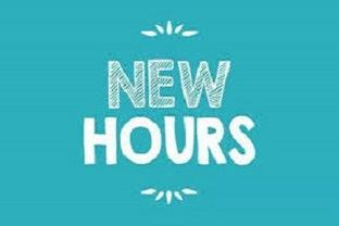 New Hours Sign
