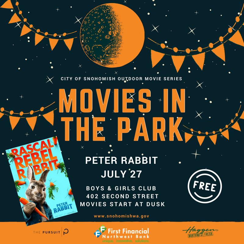 Movies in the Park Peter Rabbit