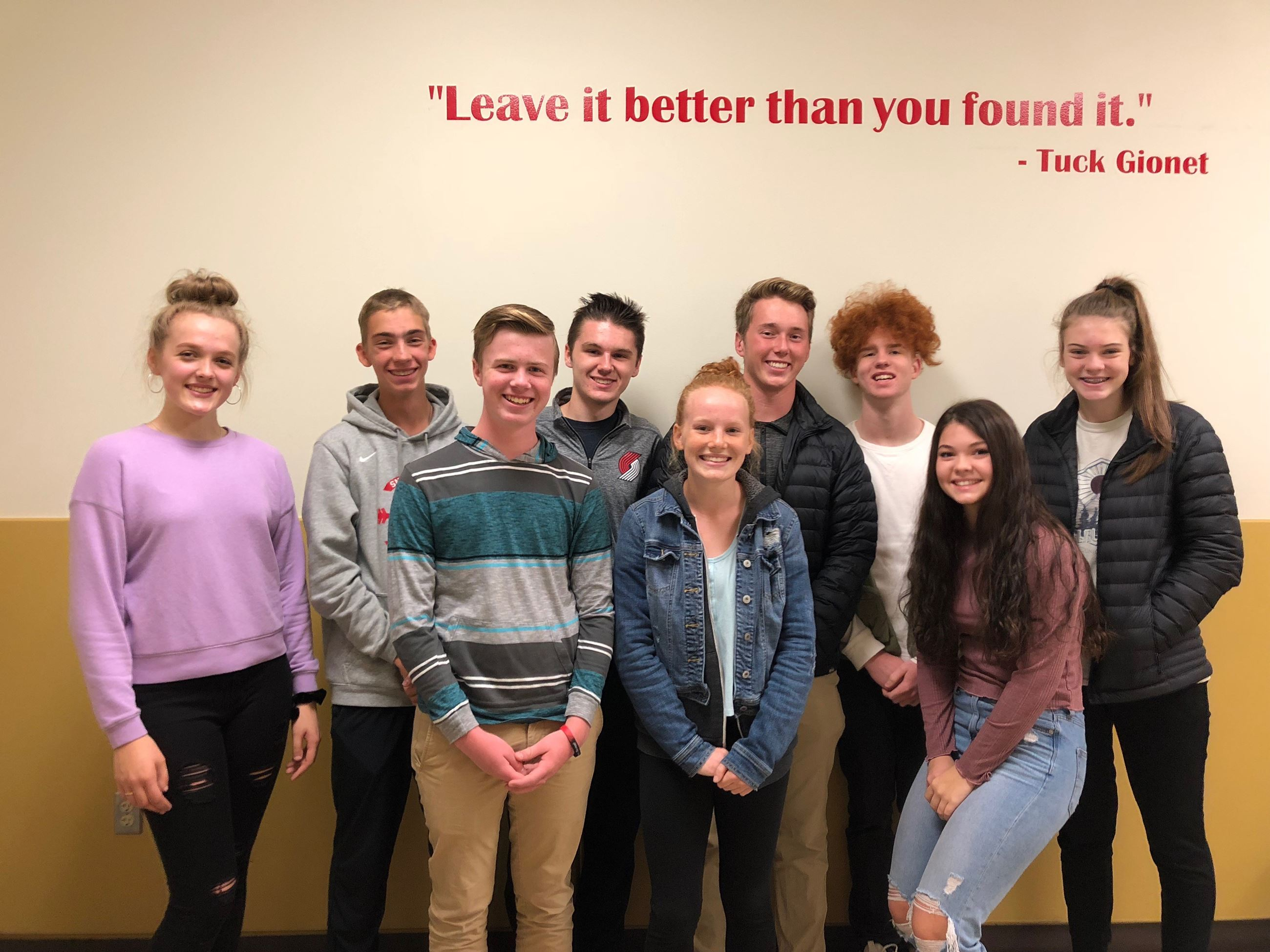 Snohomish Youth Council Fall 2018