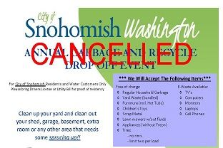 Snohomish Clean Up Newsflash Image Cancelled