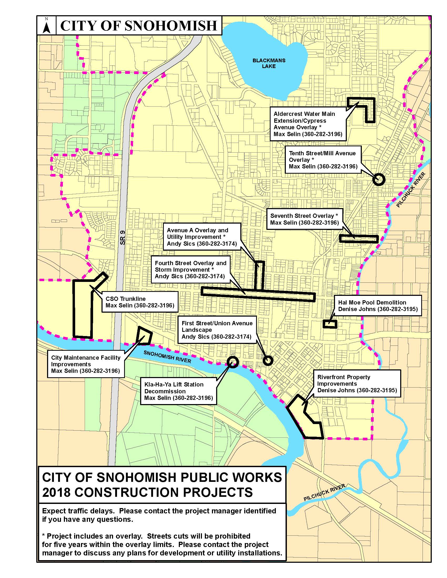 2018 City of Snohomish Construction Projects