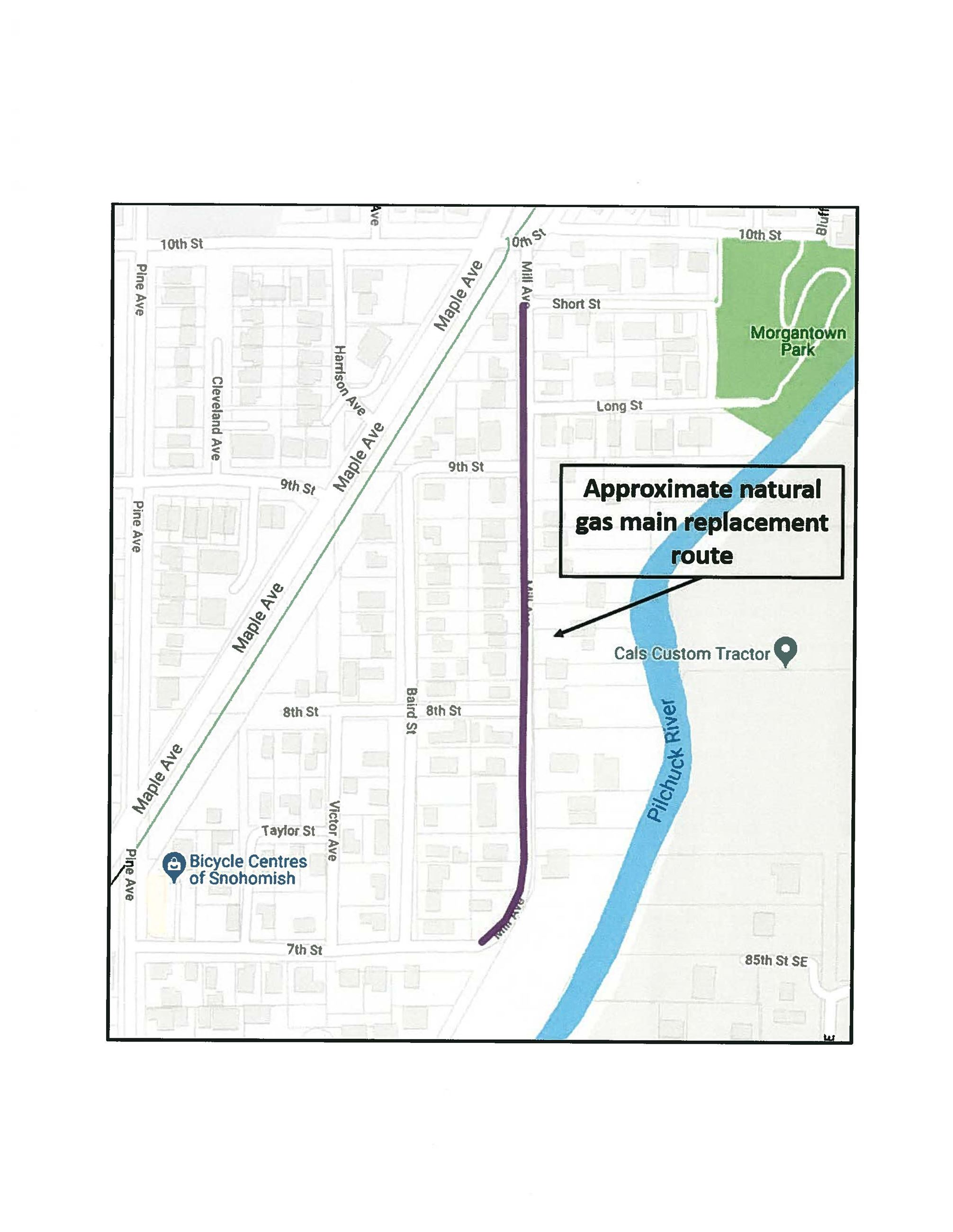 PSE Mill Avenue Project Map